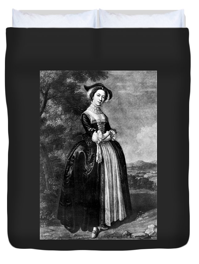 1751 Duvet Cover featuring the painting Margaret Woffington (c1714-1760) by Granger