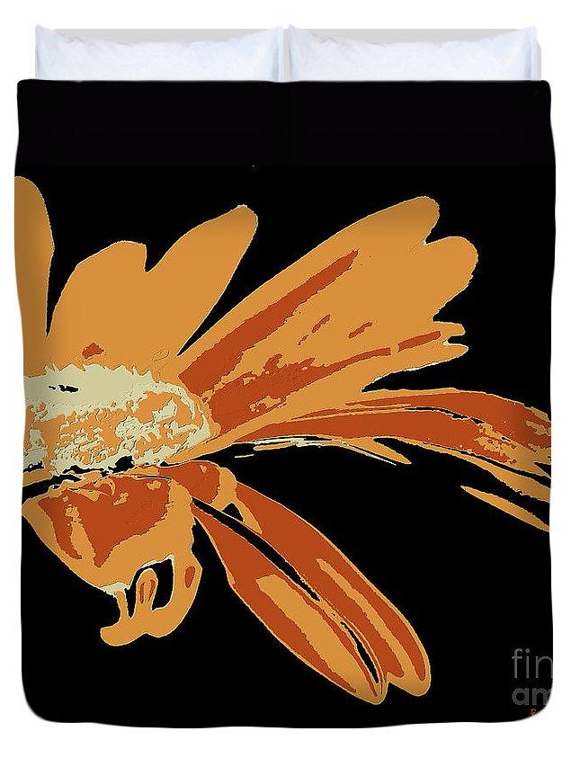 Pop Art Duvet Cover featuring the digital art Marguerite by Dragica Micki Fortuna
