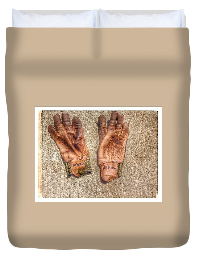 Marie's Gloves Duvet Cover featuring the photograph Marie by Alice Gipson