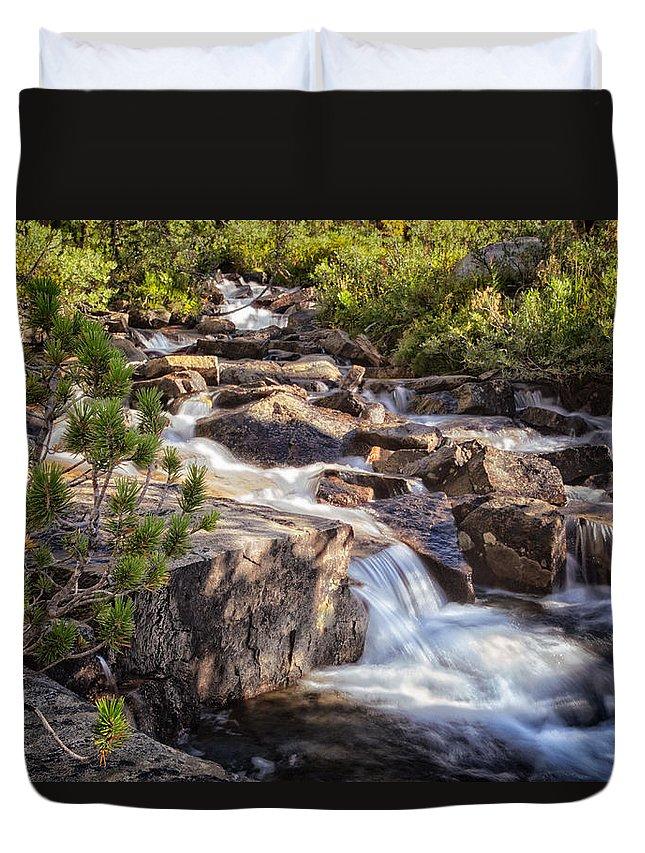 John Muir Trail Duvet Cover featuring the photograph Marie Lakes Stream by Shauna Milton