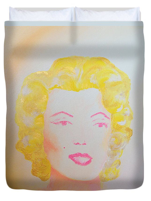 Marilyn Duvet Cover featuring the painting Marilyn by Alys Caviness-Gober