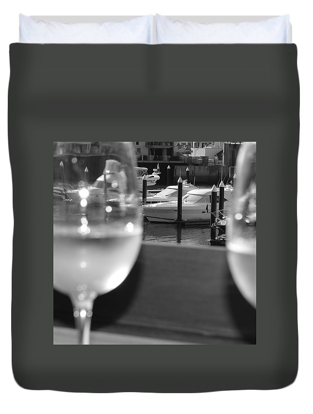 Australia Duvet Cover featuring the photograph Marina View by Cheryl Miller