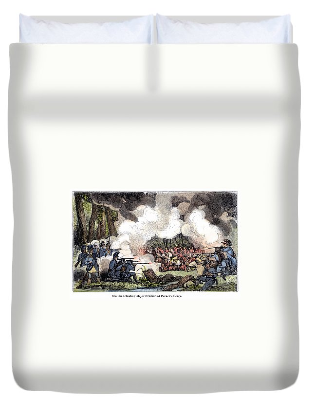 1781 Duvet Cover featuring the photograph Marion: Parkers Ferry, 1781 by Granger