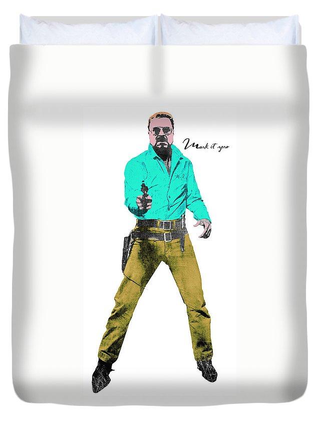 Pop Duvet Cover featuring the digital art Mark It Zero Pop Art by Filippo B