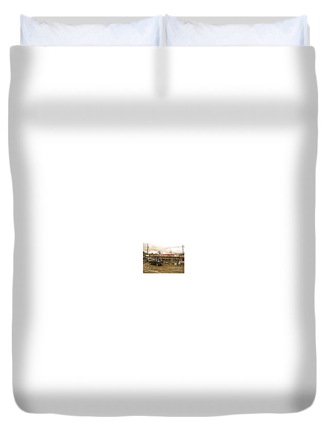 Farmer Duvet Cover featuring the photograph Market In Costa Rica by Christy Gendalia