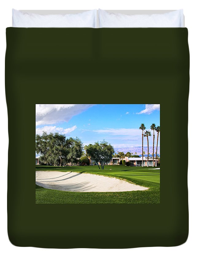 Golf Duvet Cover featuring the photograph Marrakesh Golf Palm Springs by William Dey