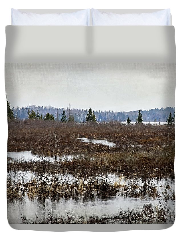 Forest Duvet Cover featuring the photograph Marsh Tones by Keith Armstrong