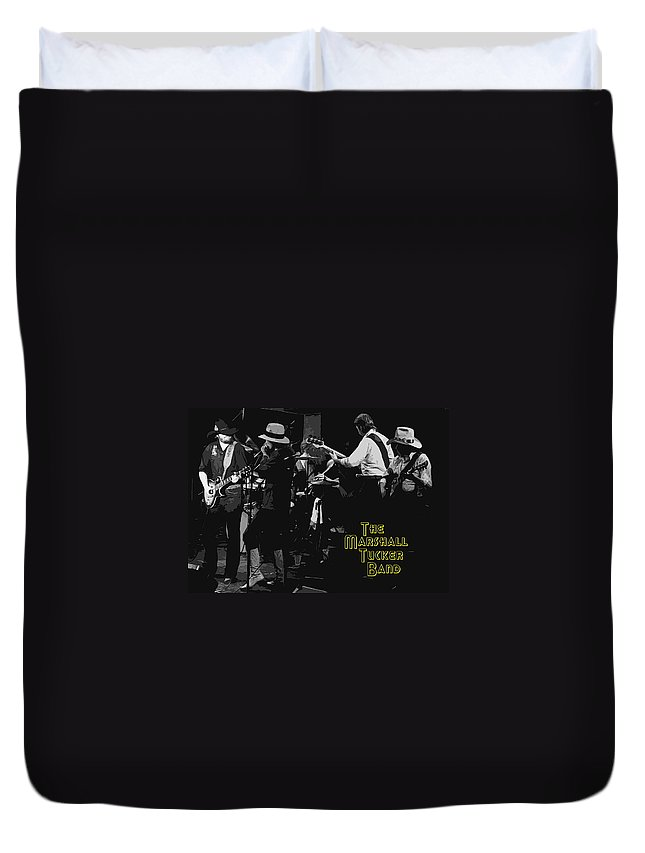 Marshall Tucker Band Duvet Cover featuring the photograph Marshall Tucker At Winterland 1976 by Ben Upham