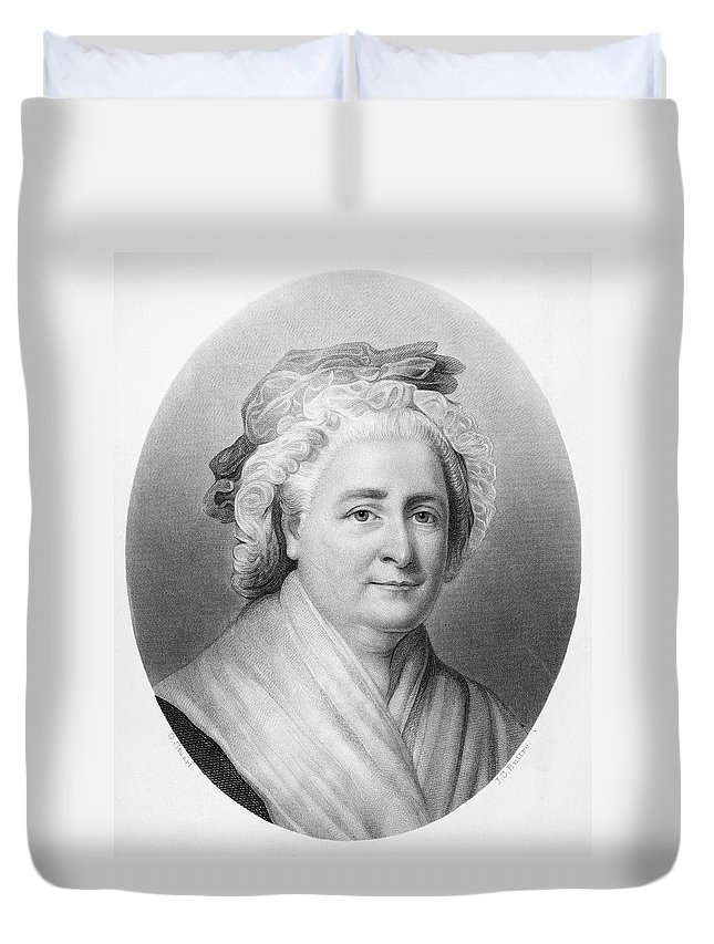 18th Century Duvet Cover featuring the painting Martha Washington (1732-1802) by Granger