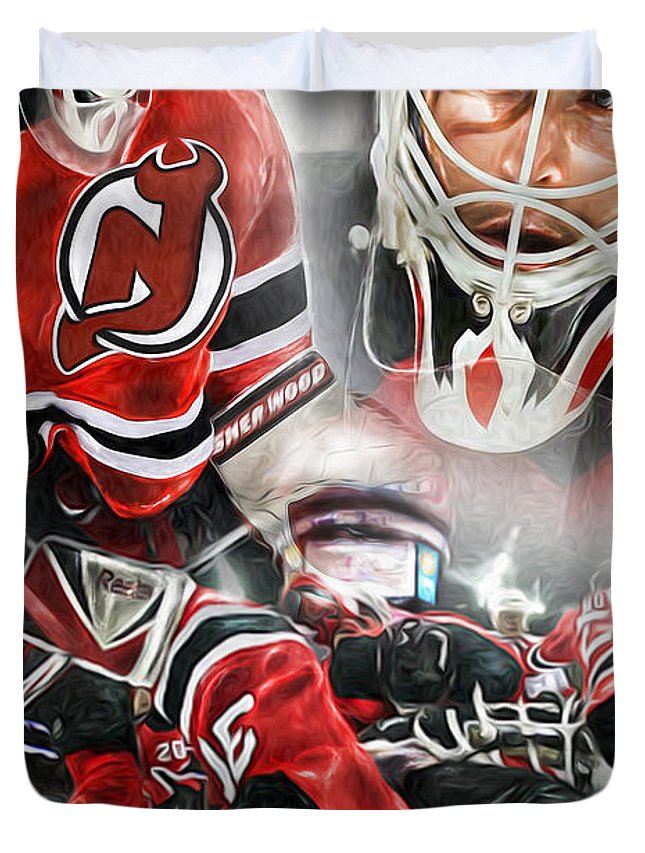 Martin Brodeur Collage Duvet Cover For Sale By Mike Oulton