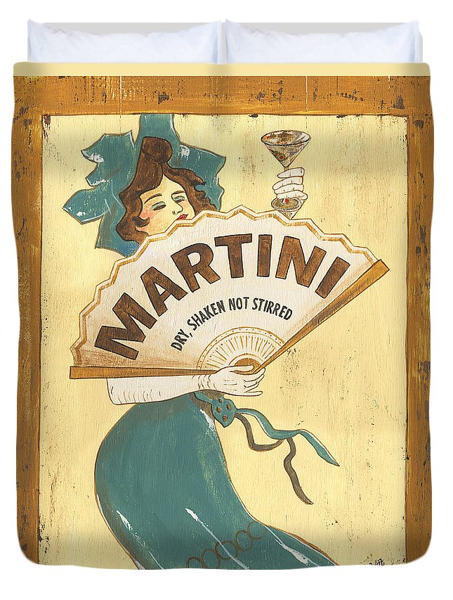 Martini Duvet Cover featuring the painting Martini dry by Debbie DeWitt