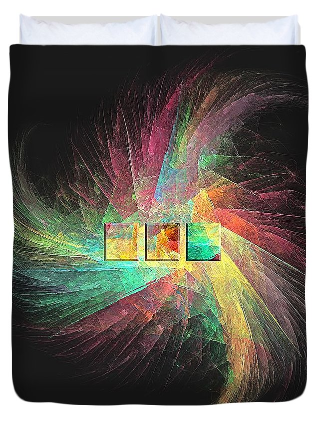 Figure Duvet Cover featuring the digital art Marucii 237-03-13 Abstraction by Marek Lutek