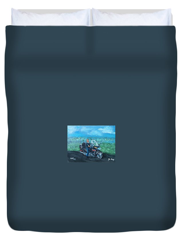 Marvin Duvet Cover featuring the painting Marvins Ride by The GYPSY