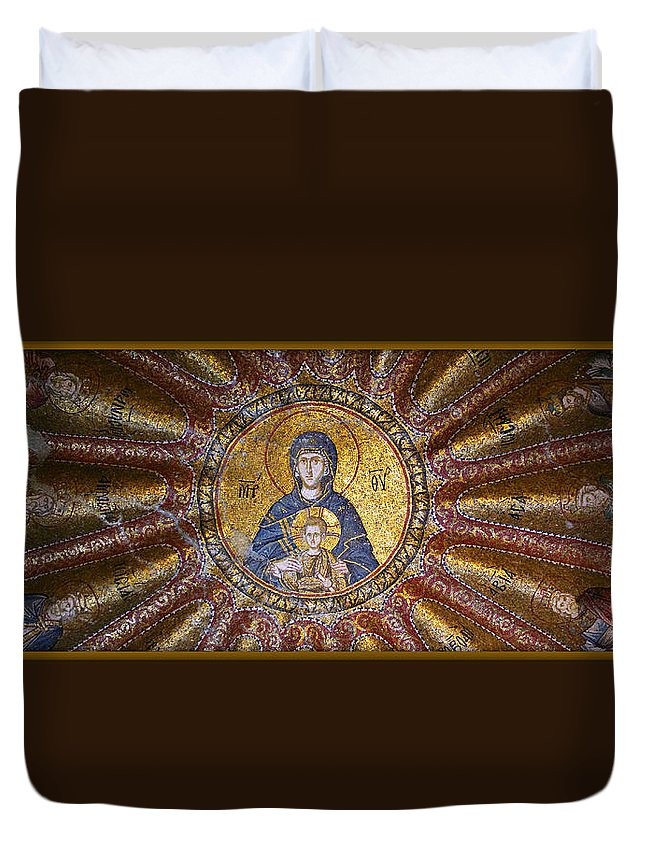 Child Duvet Cover featuring the photograph Blessed Virgin Mary And The Child Jesus by Stephen Stookey