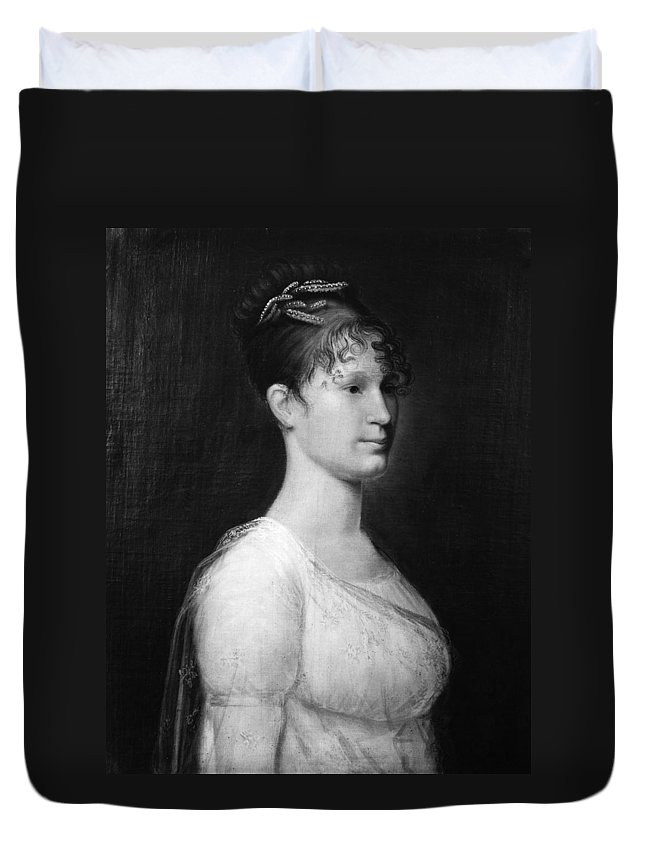 19th Century Duvet Cover featuring the painting Mary Lee Fitzhugh Custis (1788-1853) by Granger