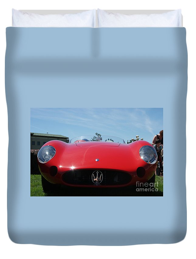 Antique Duvet Cover featuring the photograph Maserati 1953 by Rob Luzier