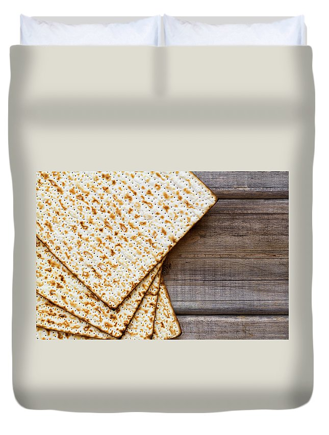 Celebration Duvet Cover featuring the photograph Matza Background by Vlad Fishman
