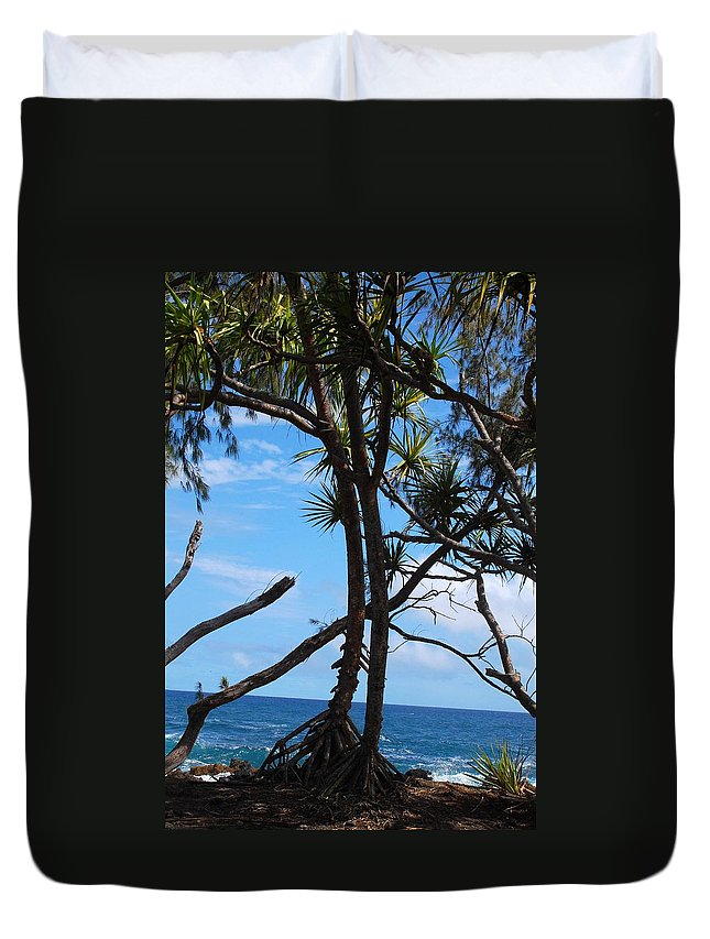 Maui Duvet Cover featuring the photograph Maui Tree Silhouette by Amy Fose