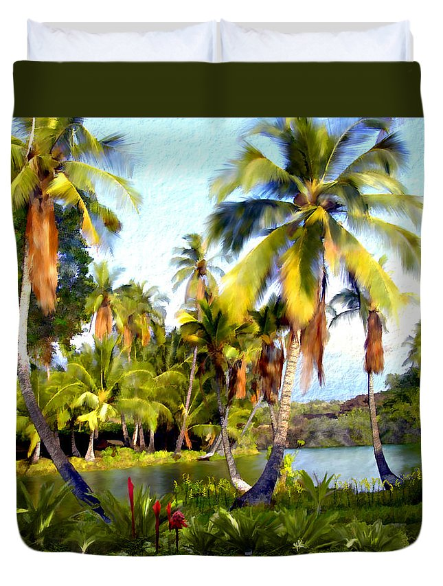 Hawaii Duvet Cover featuring the photograph Mauna Lani Fish Ponds by Kurt Van Wagner