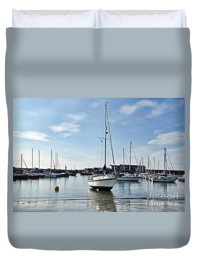 Lyme Regis Duvet Cover featuring the photograph May Morning - Lyme Regis 2 by Susie Peek