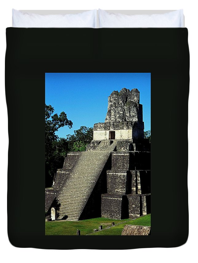 Guatemala Duvet Cover featuring the photograph Mayan Ruins - Tikal Guatemala by Juergen Weiss