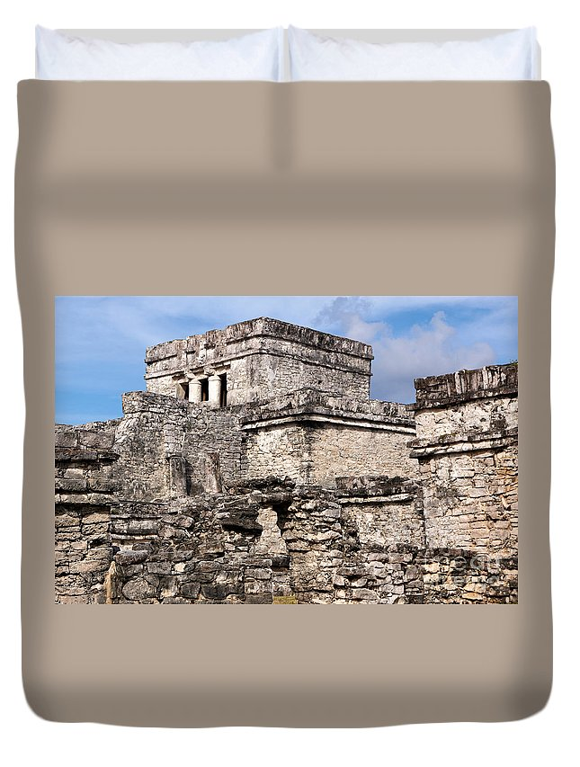 Ancient Duvet Cover featuring the photograph Mayan Tulum by Jannis Werner