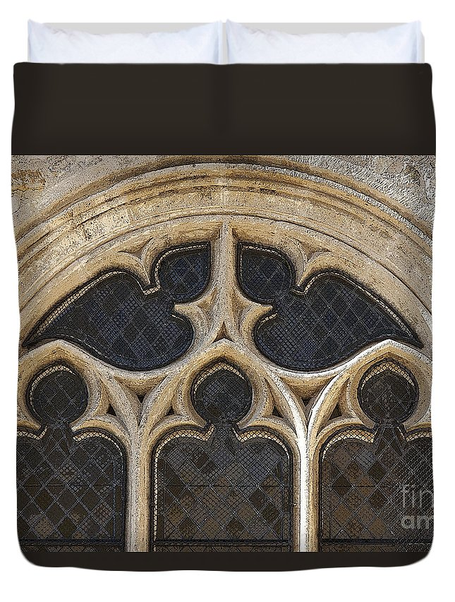 Heiko Duvet Cover featuring the photograph Medieval Church Window Ornaments by Heiko Koehrer-Wagner