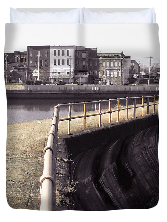 Canal Duvet Cover featuring the photograph Medina Canal by Mary Cloninger