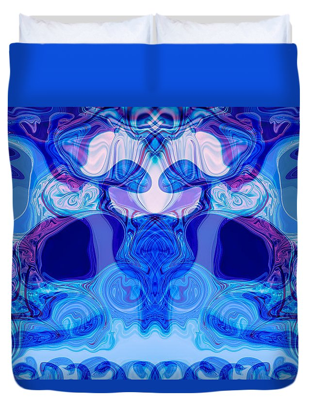 Abstract Duvet Cover featuring the painting Meditation by Omaste Witkowski