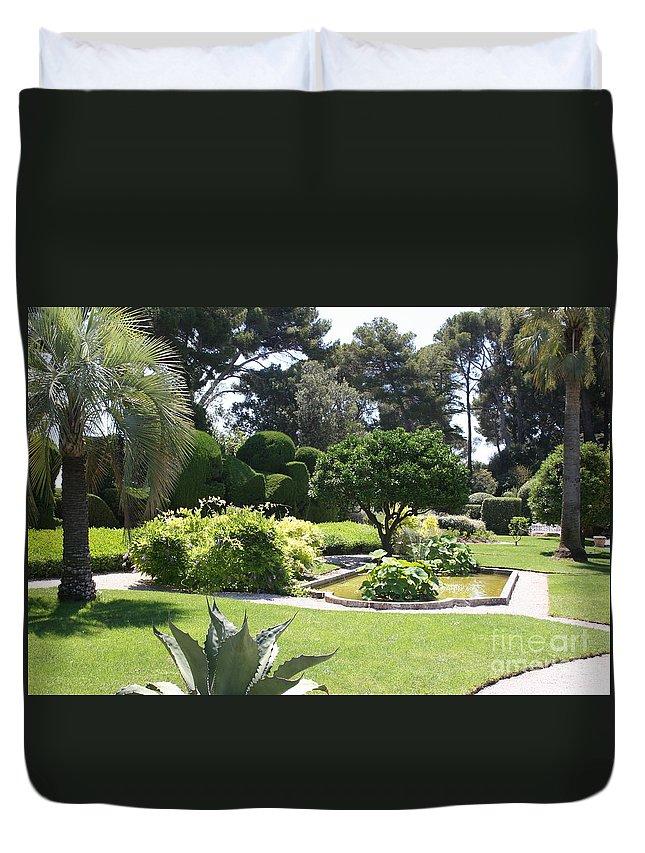 Park Duvet Cover featuring the photograph Mediterranean Garden - Cote D Azur by Christiane Schulze Art And Photography