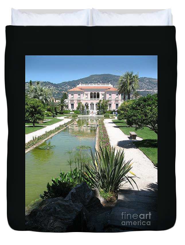 Villa Duvet Cover featuring the photograph Mediterranean Lifestyle by Christiane Schulze Art And Photography