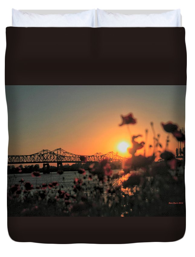 Bridges Duvet Cover featuring the photograph Melted by Ron Burt