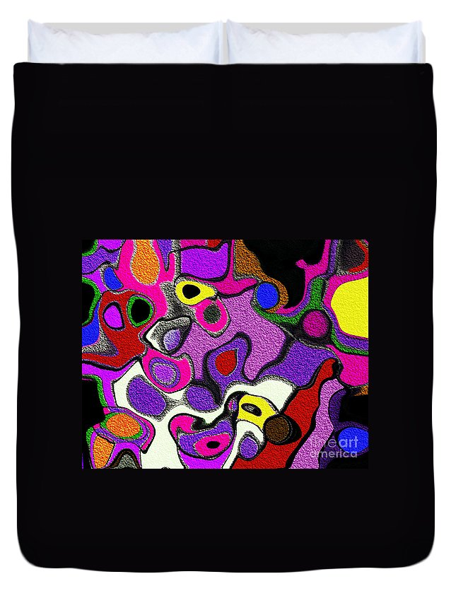 Melted Rubiks Cube Duvet Cover featuring the digital art Melted Rubiks Cube 2 by Andee Design