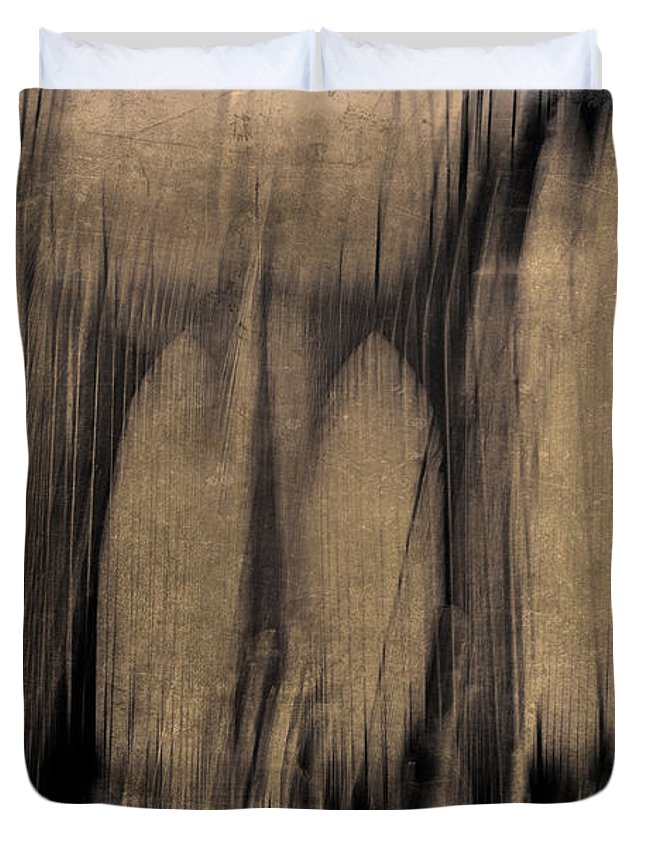 New York Duvet Cover featuring the photograph Melting by Eric Ferrar