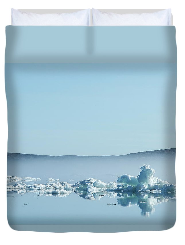 Scenics Duvet Cover featuring the photograph Melting Sea Ice, Hudson Bay, Canada by Paul Souders