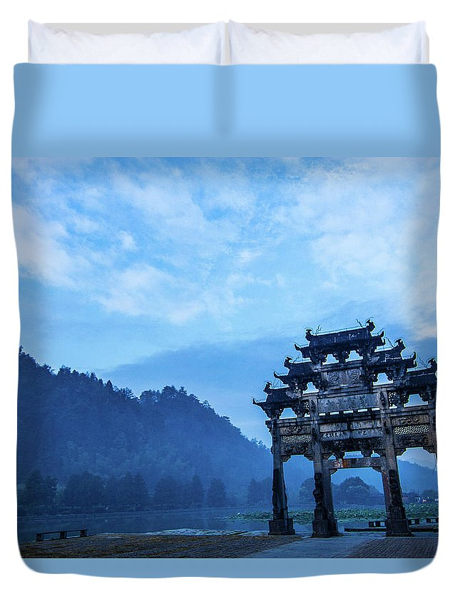 Tranquility Duvet Cover featuring the photograph Memorial Arch 02 by Welcome To Buy The Image If You Like It!