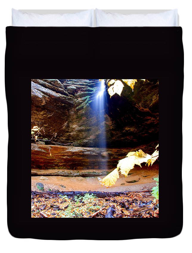 Ptical Playground By Mp Ray Duvet Cover featuring the photograph Memorial Falls IIi by Optical Playground By MP Ray
