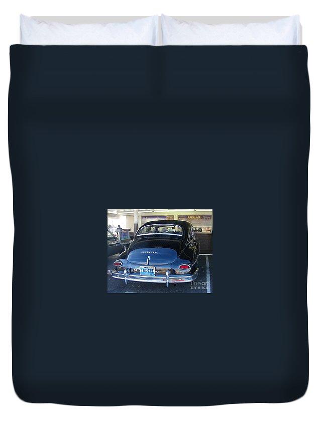 Packard Duvet Cover featuring the photograph Memories by Bobbee Rickard