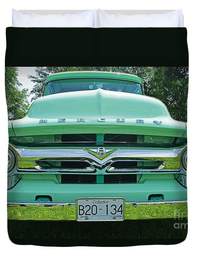 Trucks Duvet Cover featuring the photograph Mercury Grill by Randy Harris