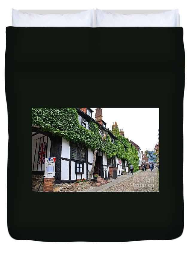 Day Duvet Cover featuring the photograph Mermaid Inn Rye by David Fowler