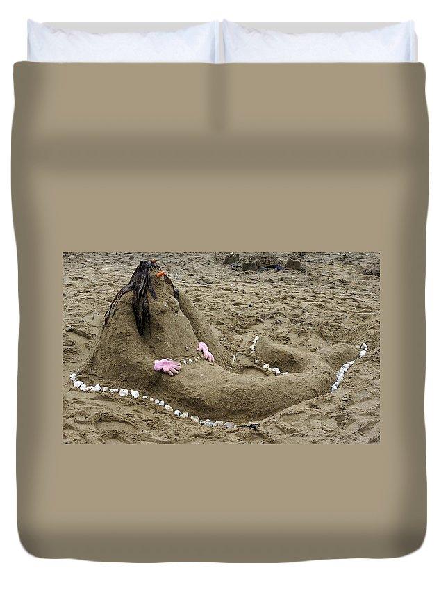 Beach Duvet Cover featuring the photograph Mermaid by Ron Harpham