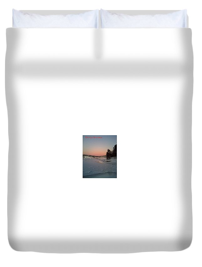 Christmas Duvet Cover featuring the photograph A Christmas Card From The Wintry Sea by Hilde Widerberg