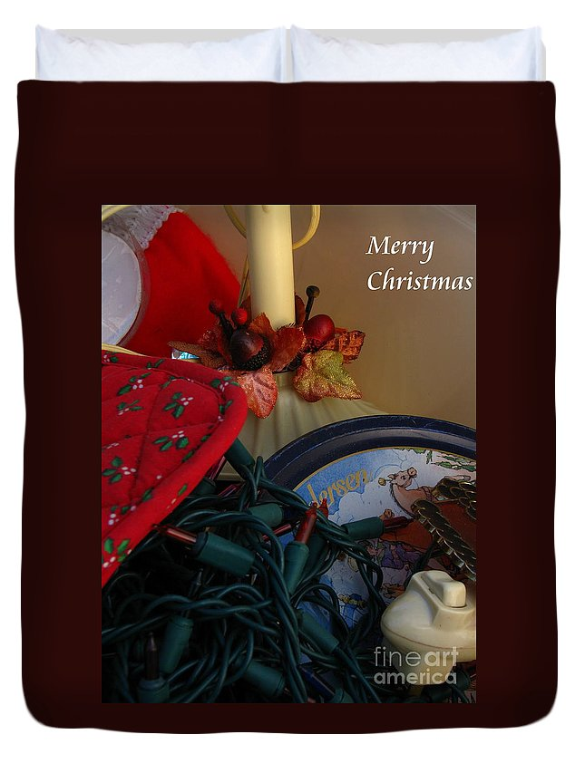 Patzer Duvet Cover featuring the photograph Merry Christmas by Greg Patzer