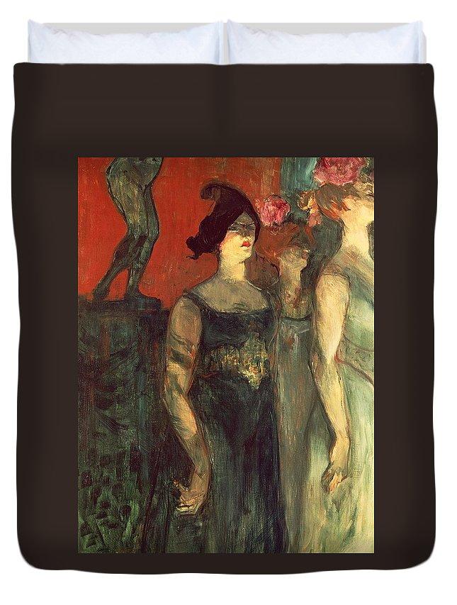 Art Duvet Cover featuring the painting Messalina by Henri de Toulouse Lautrec