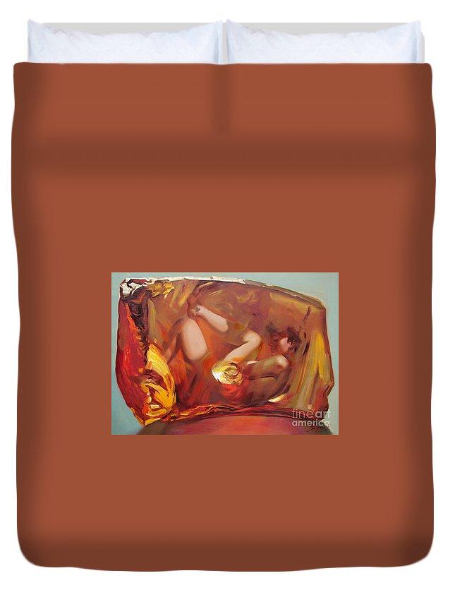 Ignatenko Duvet Cover featuring the painting Metamorphoses by Sergey Ignatenko
