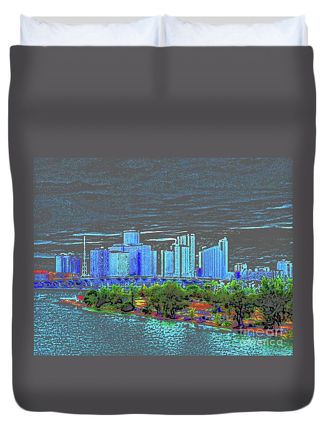 Miami Duvet Cover featuring the photograph Miami Color by Molly McPherson