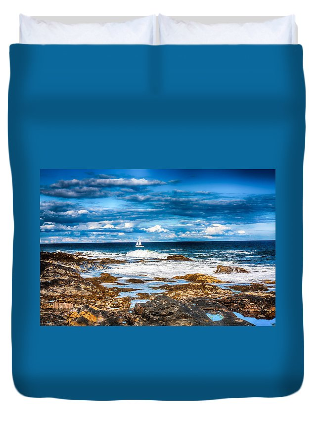 Fred Larson Duvet Cover featuring the photograph Midday Sail by Fred Larson