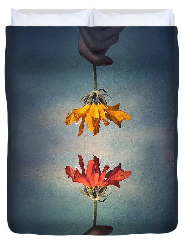 Middle Ground Duvet Cover featuring the photograph Middle Ground by Tara Turner