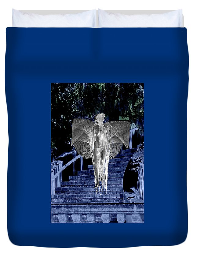 Midnight Duvet Cover featuring the digital art Midnight Garden by Lisa Yount
