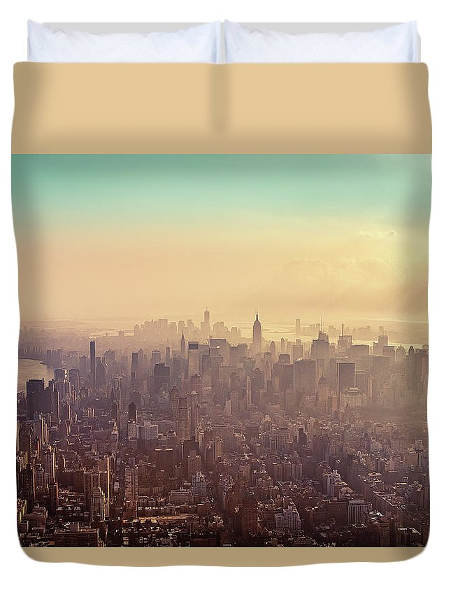 Outdoors Duvet Cover featuring the photograph Midtown Manhattan At Dusk by Matthias Haker Photography